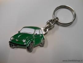 Sleutelhanger groen Fiat 500