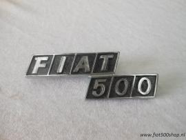 Achter embleem Fiat 500 metaal