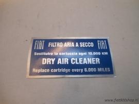 Sticker luchtfilter