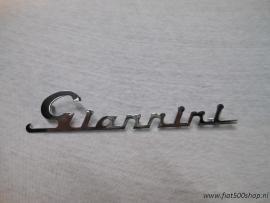 Embleem  Giannini   17.10x3.0 cm