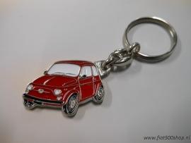 Sleutelhanger rood  Fiat 500
