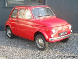 Fiat 500 R  rood  totaal gerestaureerd , incl nieuwe motor