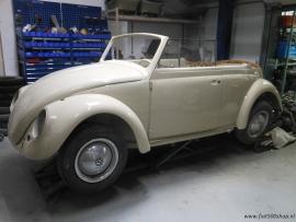 Kever cabriolet 1959 ( kleine achterlichten) in restauratie