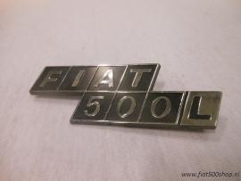 Achter embleem Fiat 500 L plastic