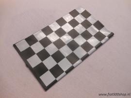 Vouwdak zwart/wit geblokt. 500/126