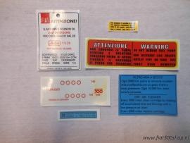 Sticker set 500 F/L/R/G